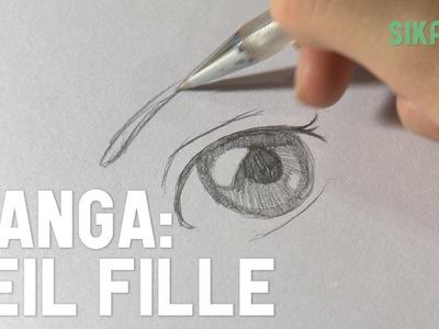 Manga : Dessiner un oeil de fille - HD