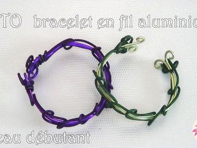 [ tuto ] bracelet en fil aluminium #1 ( niveau débutant )