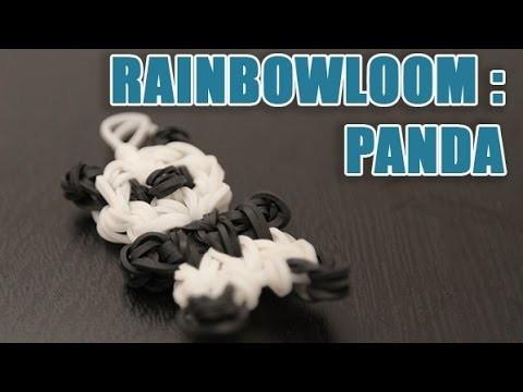 Tuto Rainbow loom pour faire un panda en élastique