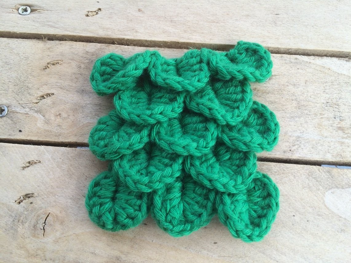 Crochet point crocodile. punto escama crochet. crocodile stitch crochet