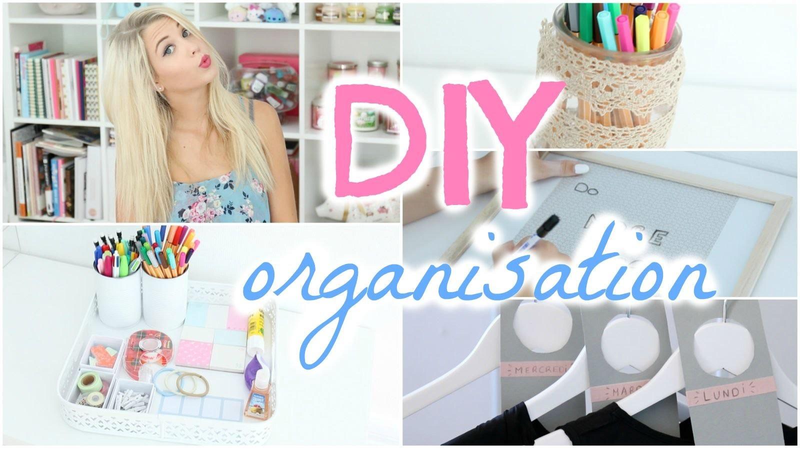 [ DIY n°7 ] : 4 DIY Organisation À FAIRE ABSOLUMENT !