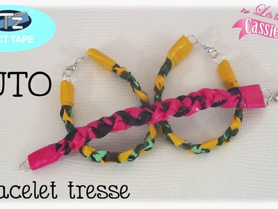 { Tuto } Bracelet tresse en IT'z DUCT TAPE