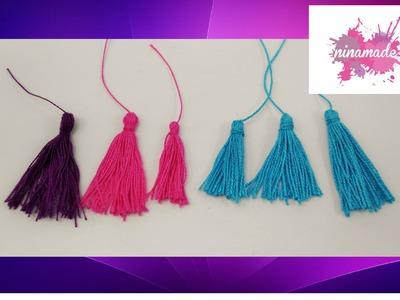 DIY. Comment faire des pompons avec du fil. Très facile!!!