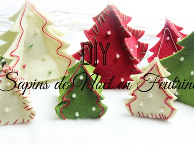 [ D.I.Y de Noël #2 ] : Sapins de Noël en Feutrine ❆
