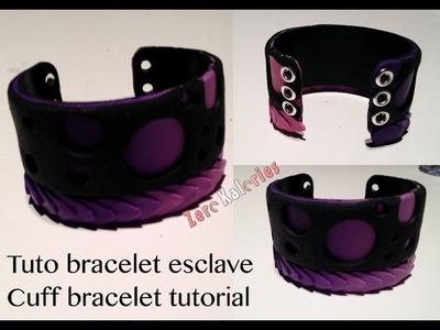 Tuto bracelet corset à la ZK - Cuff bracelet tutorial