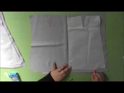 Tuto découpe du patron sur tissus (la jupe) pour débutants