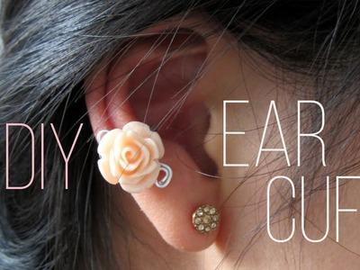TUTORIEL - D.I.Y. : Ear cuff - Bague d'oreille avec une petite rose #3