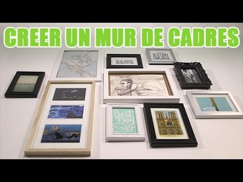 Comment faire un mur de cadres photo - DIY avec youMAKEfashion