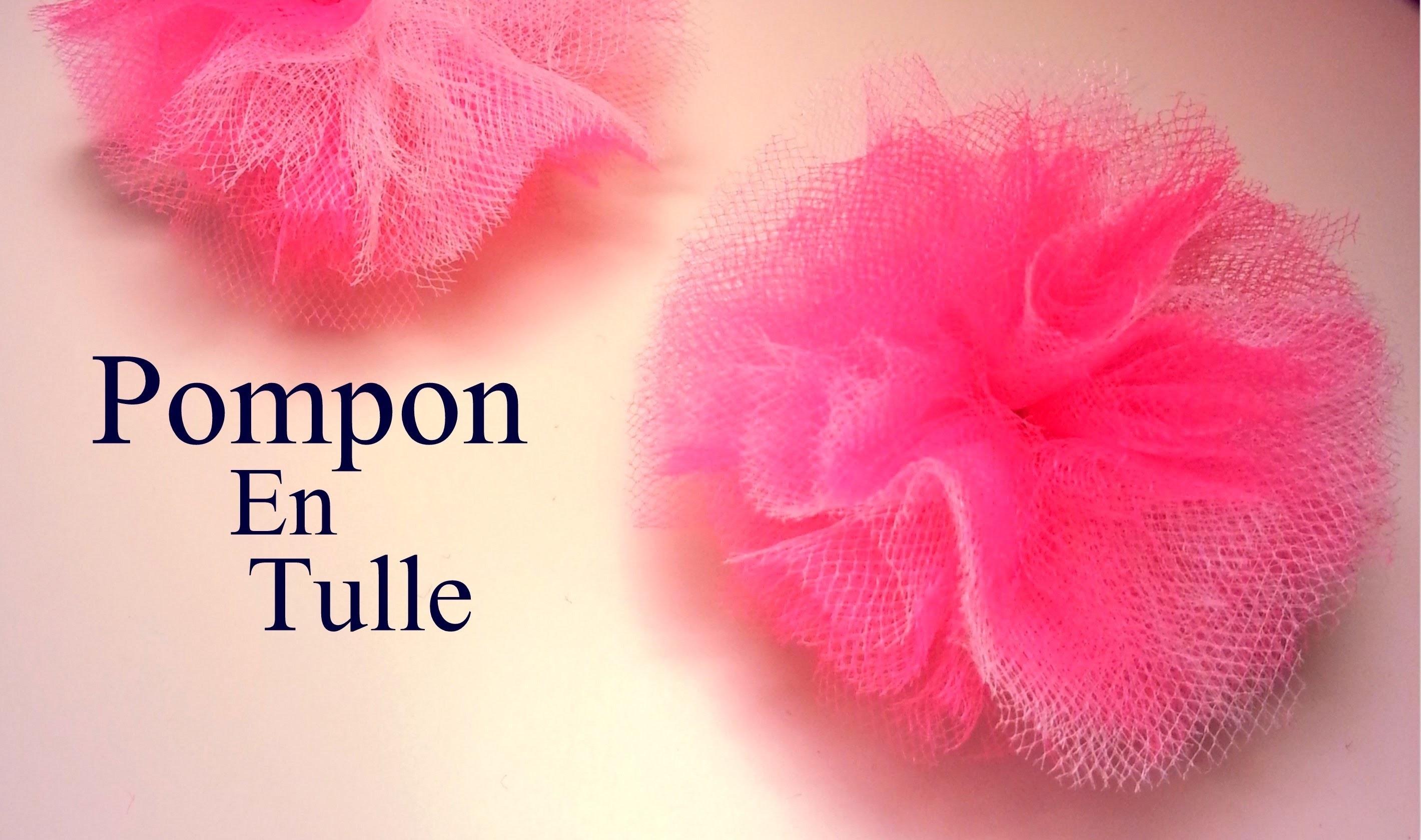 D.I.Y Création Comment faire un Pompon en Tulle