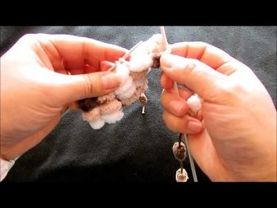 Tricoter une pelote de fil pompons avec Nc Lis