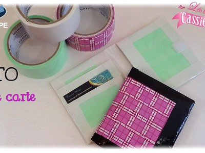 { Tuto } Porte carte en IT'z DUCT TAPE