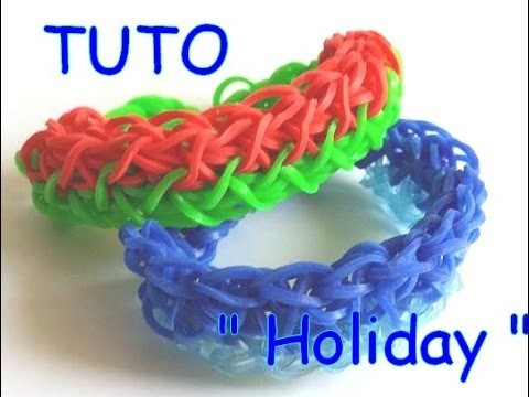 "[ TUTO ] bracelet élastique holiday "" vacances"""