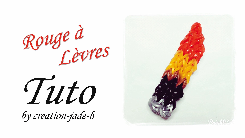 Tuto Rainbow Loom - Rouge à Lèvres (Lipstick) !