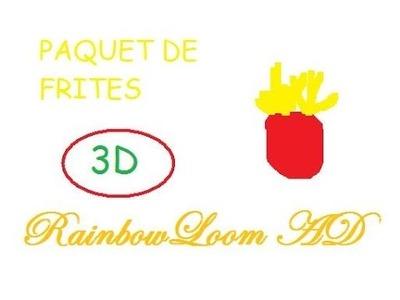 Rainbow Loom PAQUET DE FRITES 3D [Tuto FR]