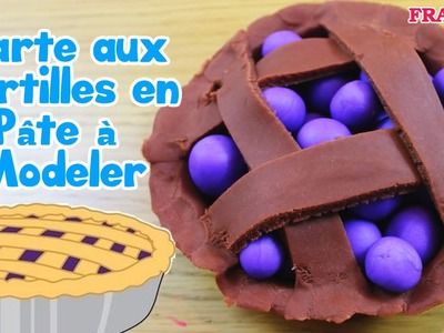 Français Facile: How To Play Doh Blueberry Pie | Tarte aux Myrtilles en Pâte à Modeler