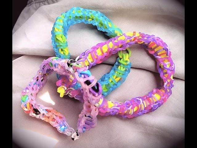 Bracelet élastique torsadé facile avec les doigts