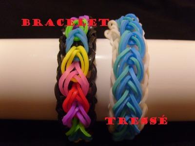 Bracelet elastique tressé, tuto francais niveau facile, rainbow loom bands
