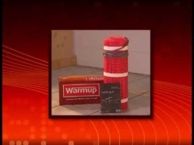 Installation du plancher chauffant électrique Warmup en trame