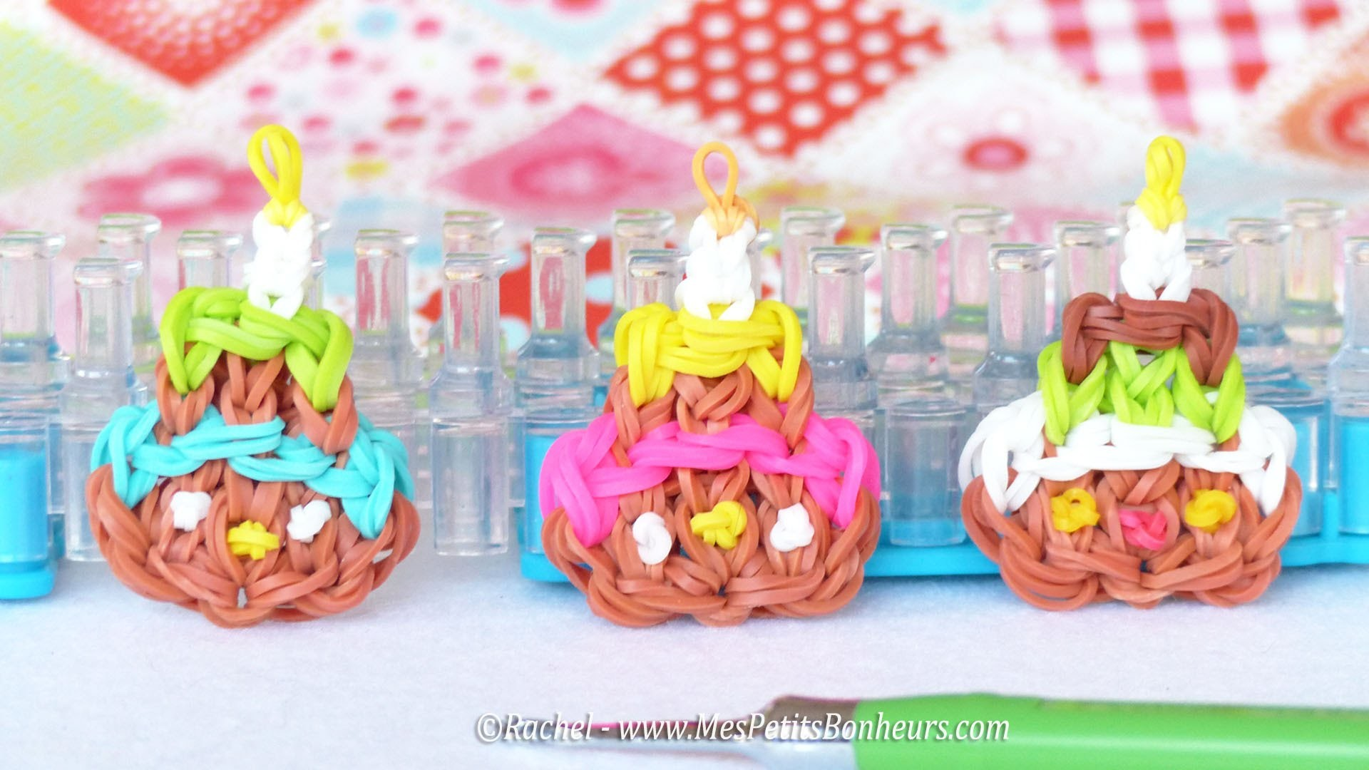 Tuto Gâteau d'anniversaire Rainbow Loom - Happy Birthday !