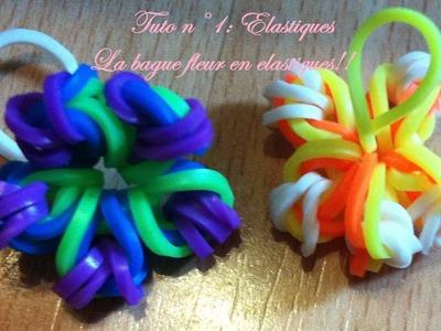La bague fleur en elastiques (Tuto n1: elastiques)