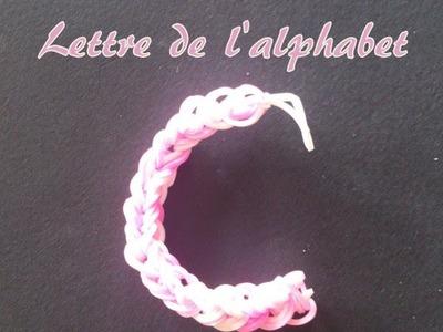 Lettre C Rainbow loom® Tutoriel Français (Niveau Débutant)
