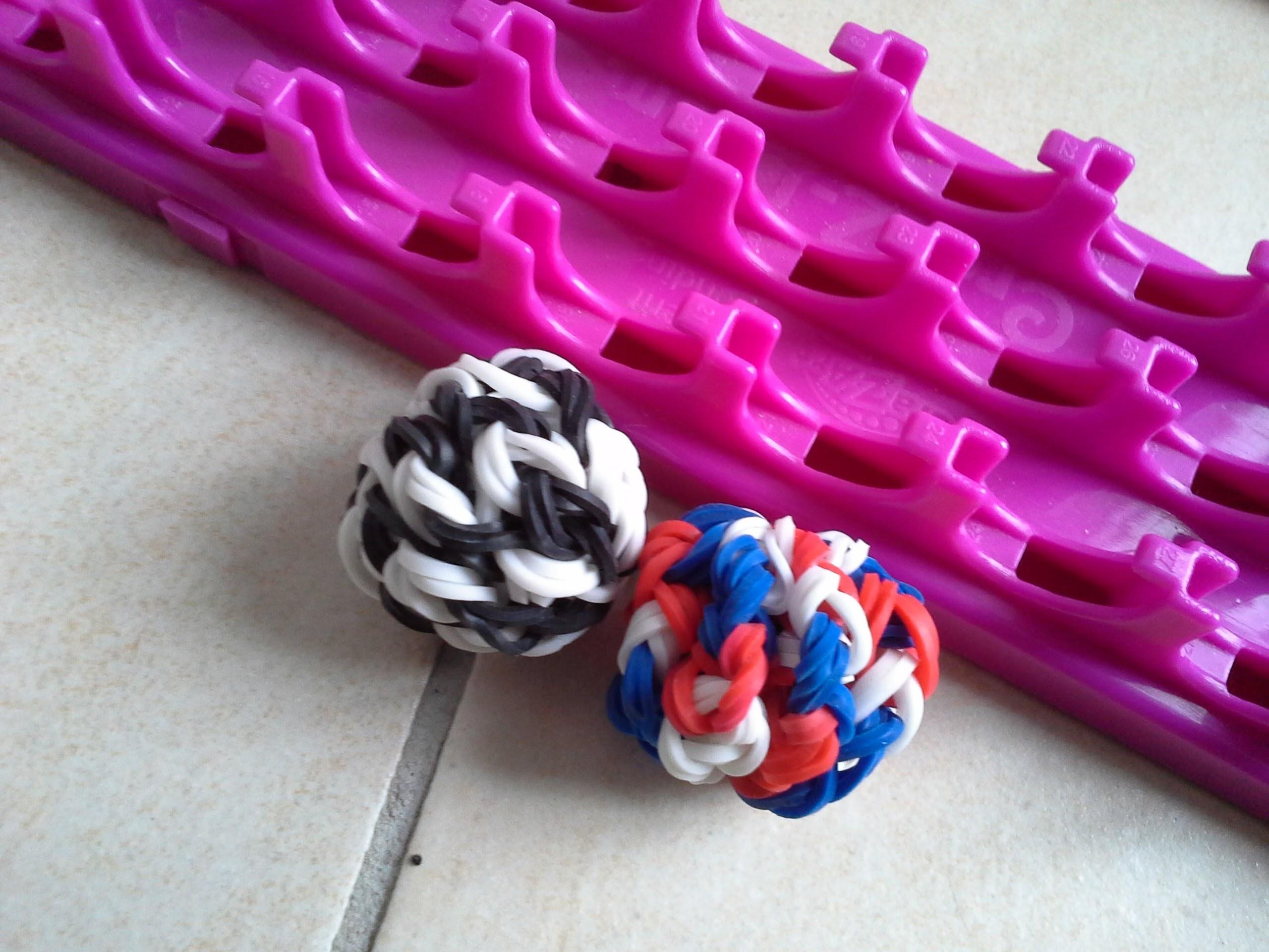 Tutoriel cra-z-loom rainbow loom francais ballon de foot 3D tricolore