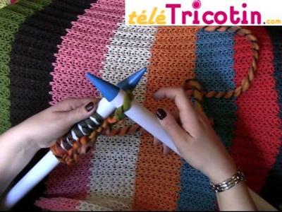 """Cours de TRICOT 2° Premier rang (maille endroit) pour """"réaliser une écharpe géante"""""""
