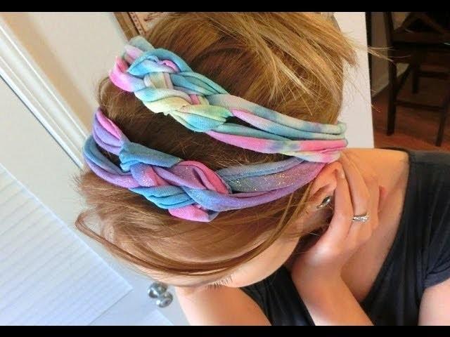 DIY: Bandeaux multi couleurs tressés!