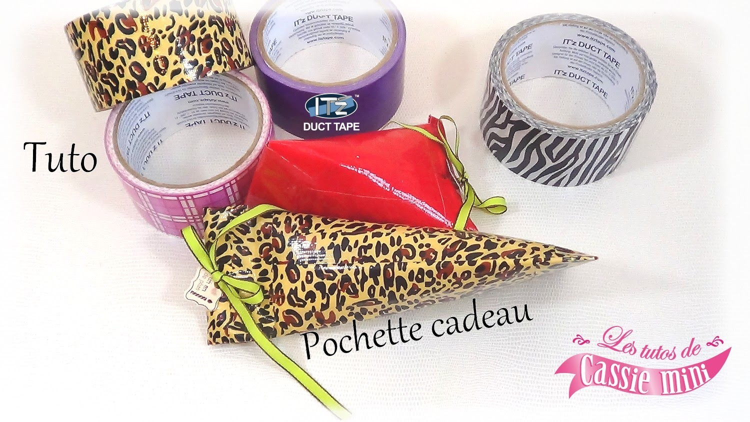 { Tuto } Pochette cadeau en it'z duct tape