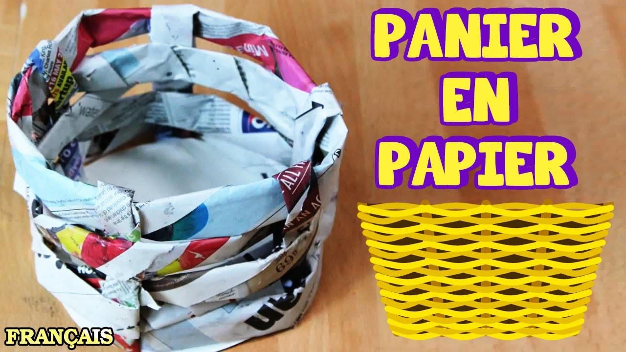 Bricolage Facile: Comment Faire Panier en Papier | How to Make a Paper Basket | DIY French Videos