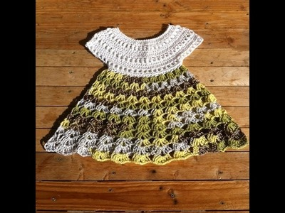 Robe crochet bebe 2.2. baby dress crochet 2.2