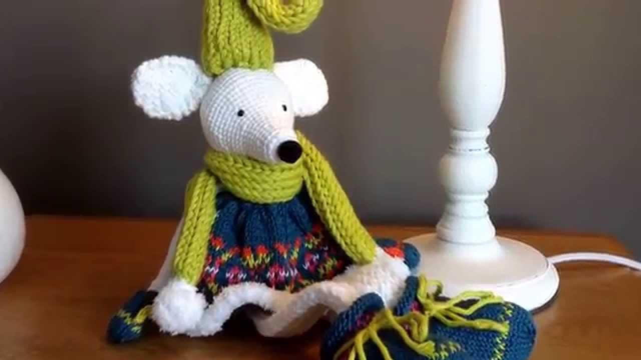 Souris en tricot et en crochet