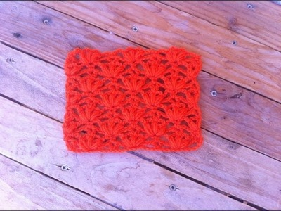 Point fantaisie 3 fleurs crochet. punto fantasia flor a crochet
