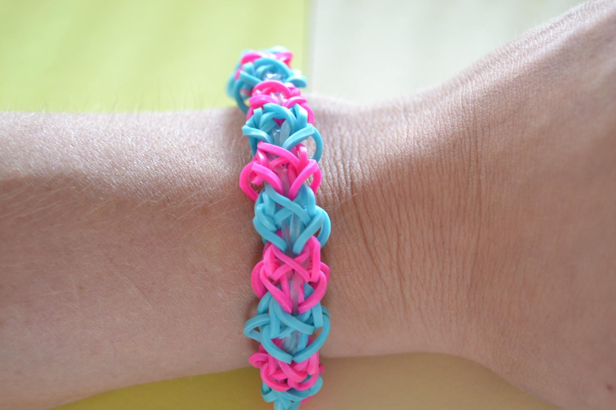 Bracelet Rainbow Loom ( Forme) Diamant