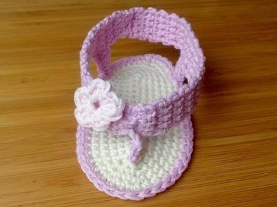 TUTO DMC : Tongs au crochet pour bébé (Partie 1)