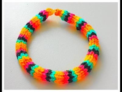 Tutoriel : Comment réaliser un bracelet élastique HEXAFISH RAINBOW LOOM  (en français)