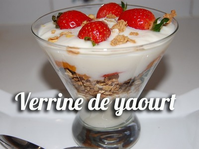 Verrine de yaourt, müslix et fruits frais