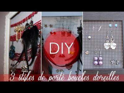 DIY : 3 styles de porte boucles d'oreilles !