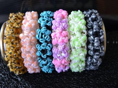 Bracelet Rainbow Loom Cristaux