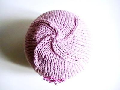 Tutoriel bonnet tricoté  bébé sans couture