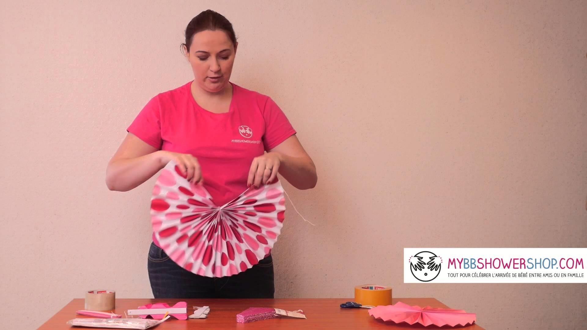 [Tuto] Comment monter un mur de Rosaces en Papier en Décorations de baby shower et fêtes