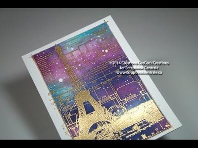 Carte gaufrée avec Kesi'art embossed card