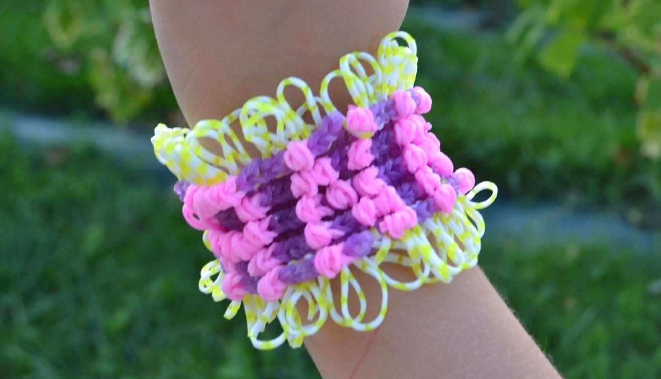Bracelet élastique avec prénom rainbow loom - tutoriel en français