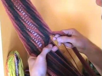 La confection de ceintures fléchées