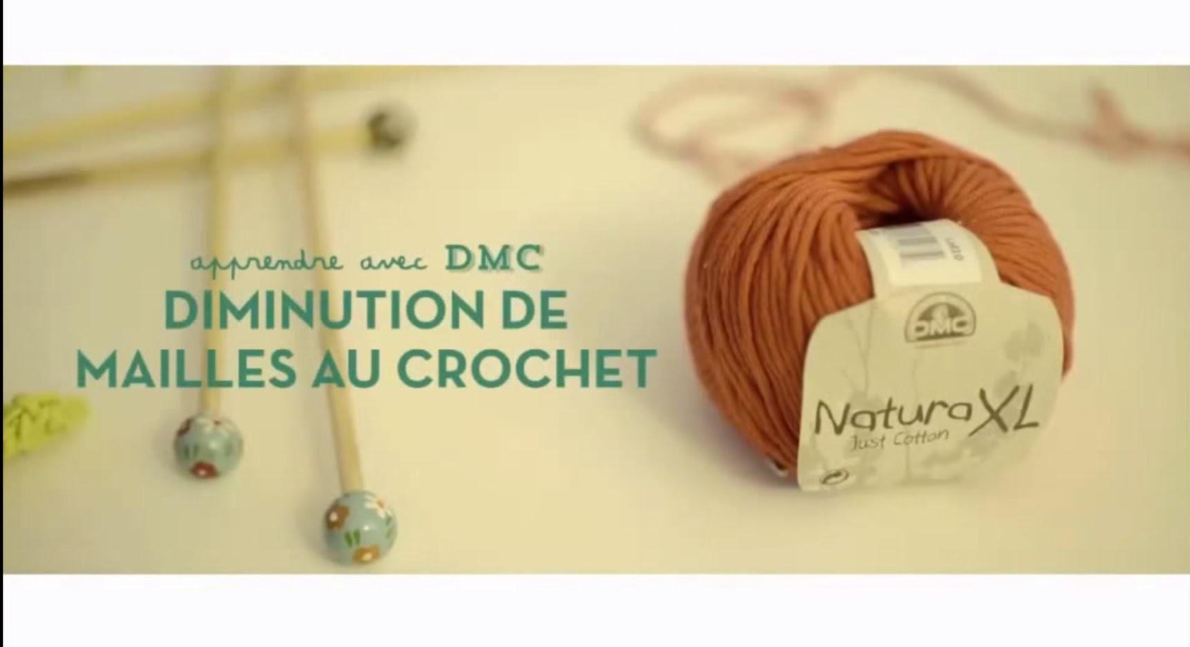 DIY Crochet : Diminution de mailles au crochet avec DMC