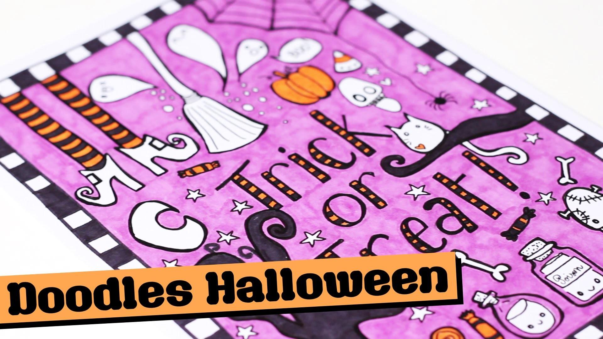 DIY # TUTO Dessin - Doodles Halloween