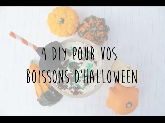 Halloween ☠ 4 DIY pour vos boissons ☠