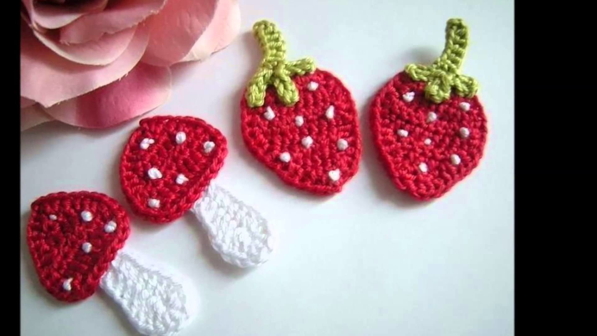 Apliques tejidos a crochet