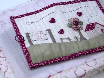 Broderie : Coudre une trousse en patchwork brodé avec Marie Suarez - L'Atelier Edisaxe