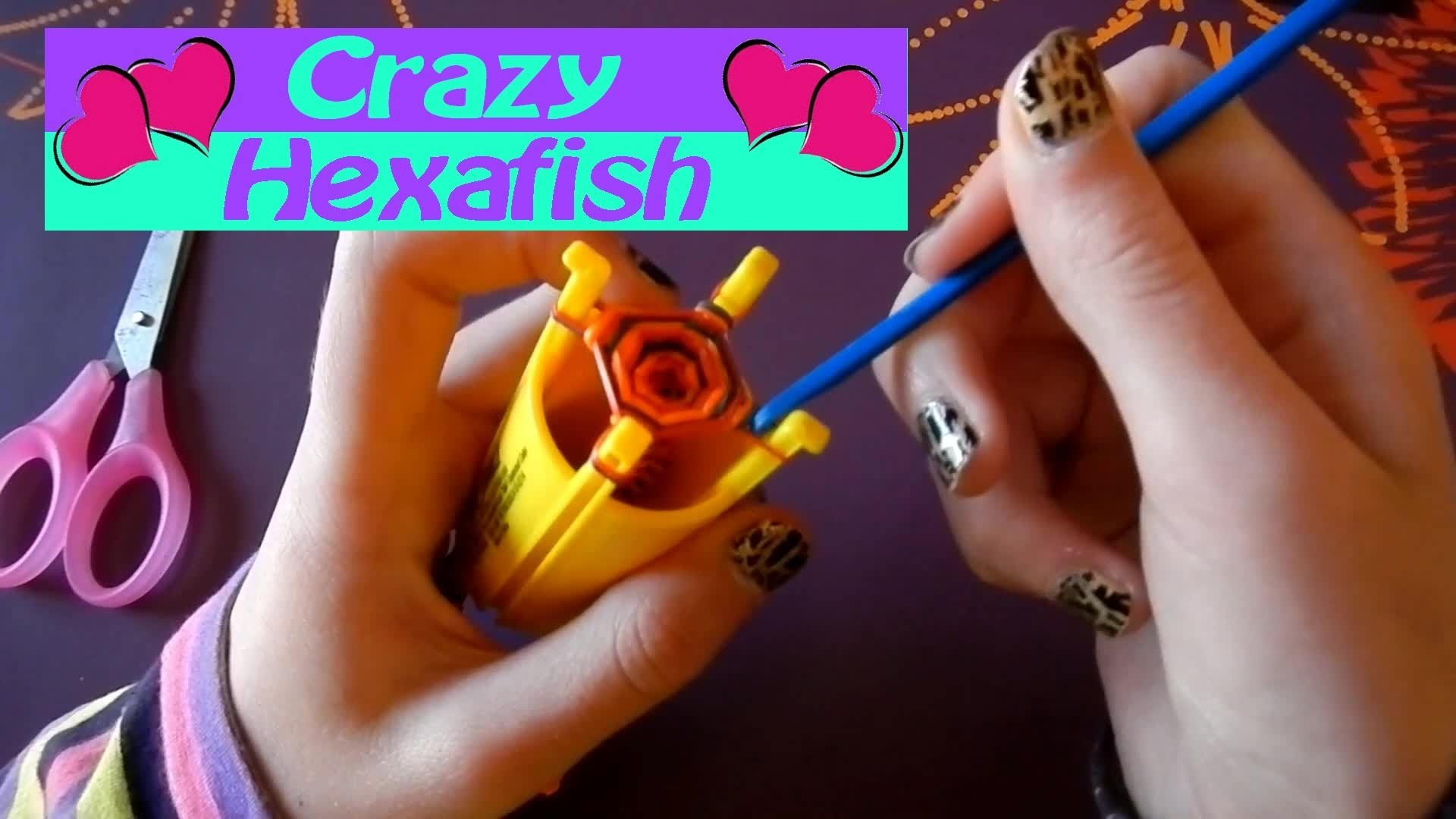 Comment faire. fabriquer facilement un bracelet Crazy Hexafish  de crazy loom